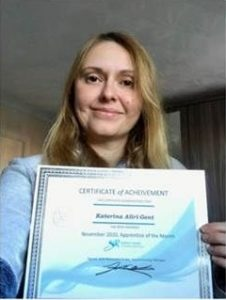 CIPS Level 4 Apprentice of The Month Katerina Aliri Gent